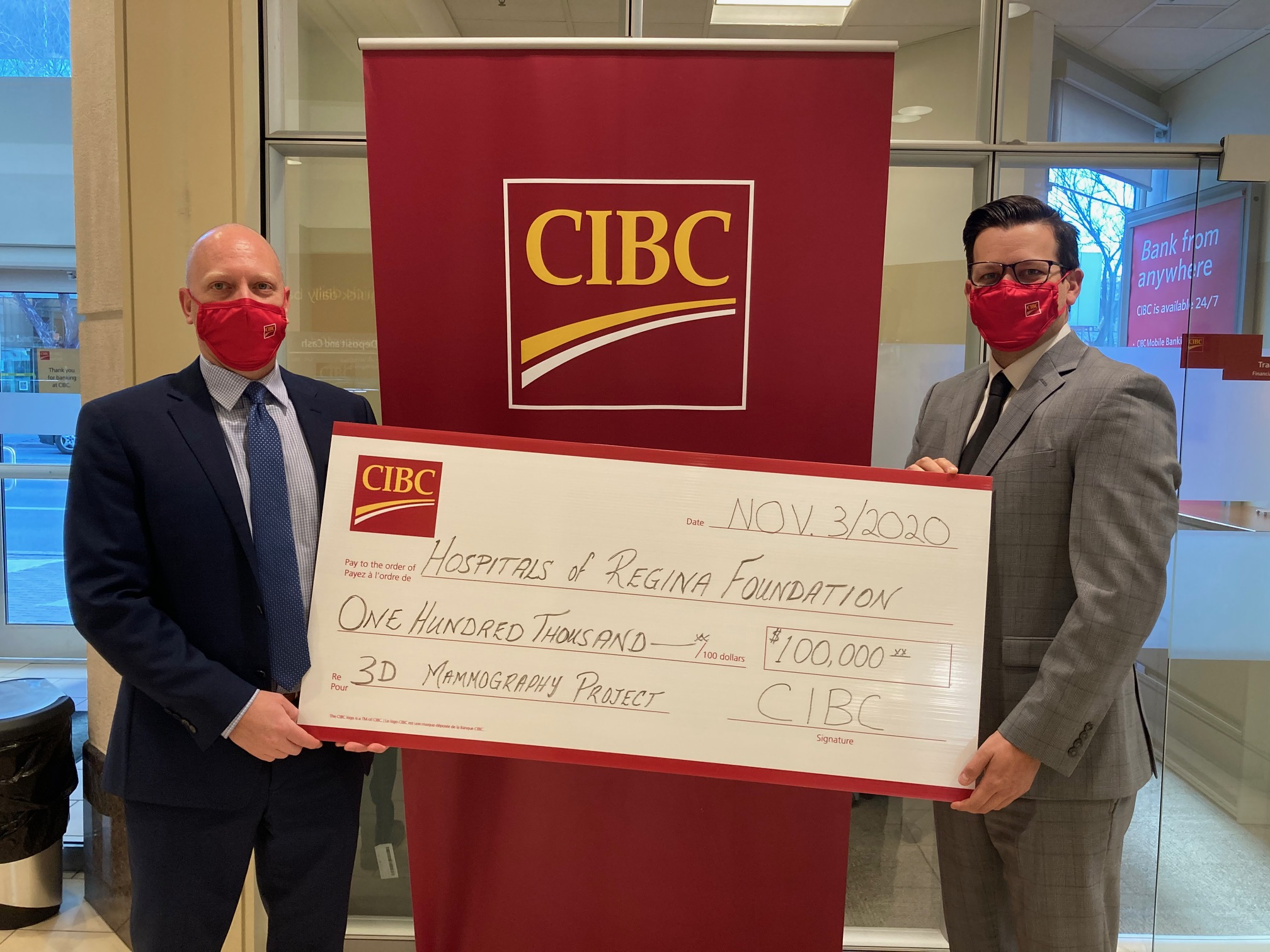 CIBC Joins the Fight Against Breast Cancer in Saskatchewan