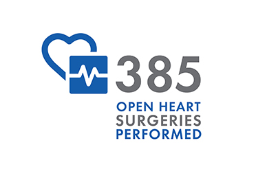 385 open heart surgeries performed